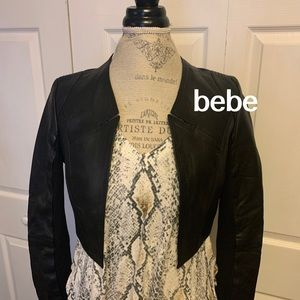 Bebe | Leather Cropped Bolero
